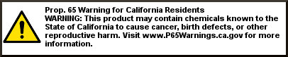 Prop 65Warning