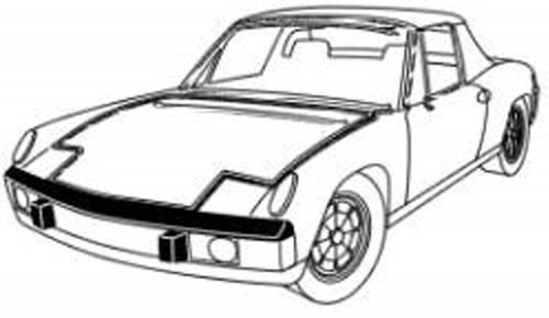 Performance Products® - Porsche® Interior Mirror Adhesive Pad, 1965-1977 (911/912/914)