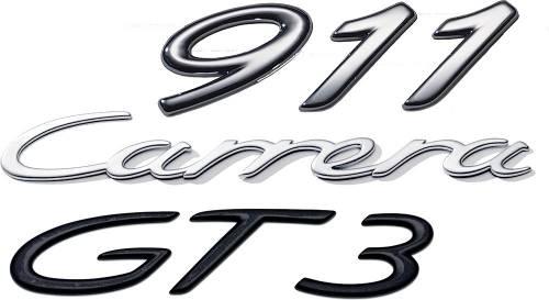 GENUINE PORSCHE - Porsche® Original 2.7 Emblem, Chrome, 1973-1977