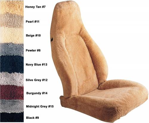 Performance Products® - Porsche® Seat Cover, Tailor Made Sheepskin, Hi-Back Seat, 1985-1995 (928/930/944/968)
