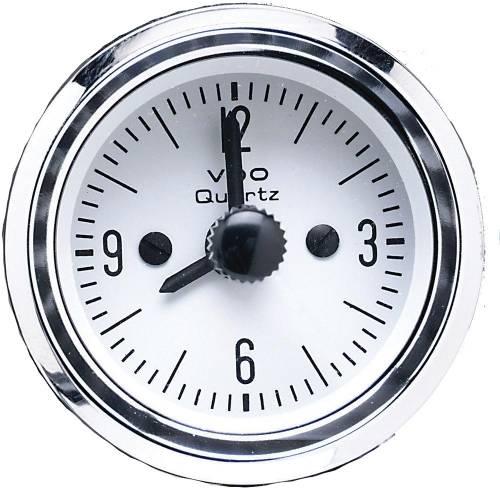 """Performance Products® - Porsche® Quartz Clock White Face 2"""" Diameter, 1948-Present"""
