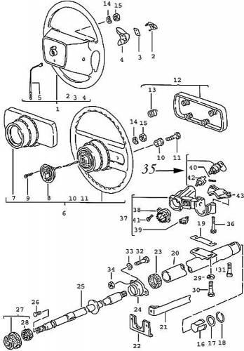 GENUINE PORSCHE - Porsche® Ignition Lock Cylinder, With Keys, 1985-1991 (944)